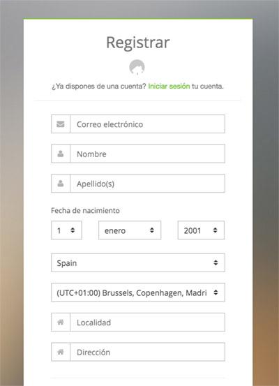 Registro en Anycoin Direct